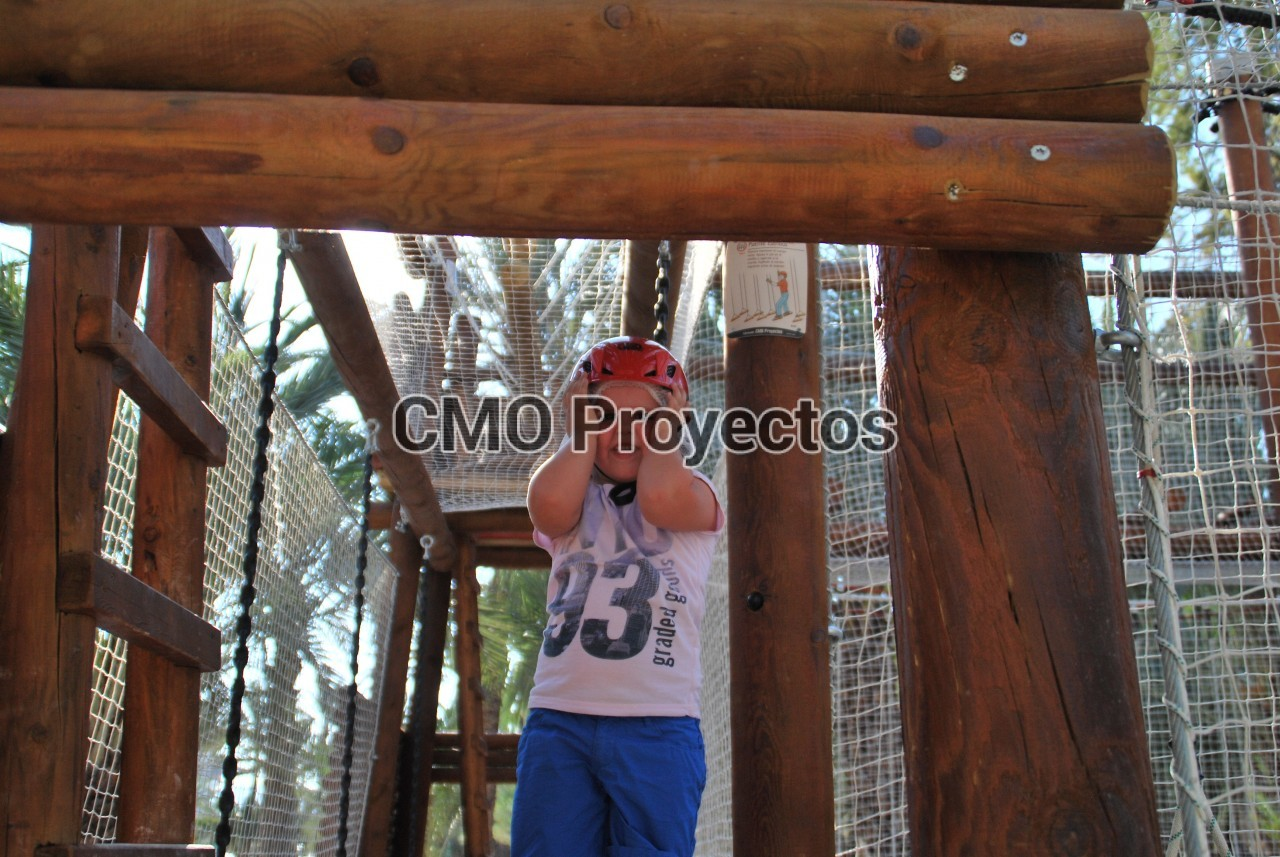 Children course with passive safety system en Parque Multiaventura CMO Proyectos