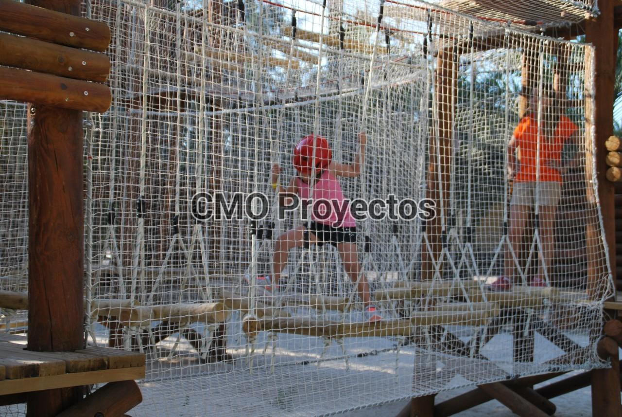 Children course with passive safety system en Parque Multiaventura CMO Proyectos