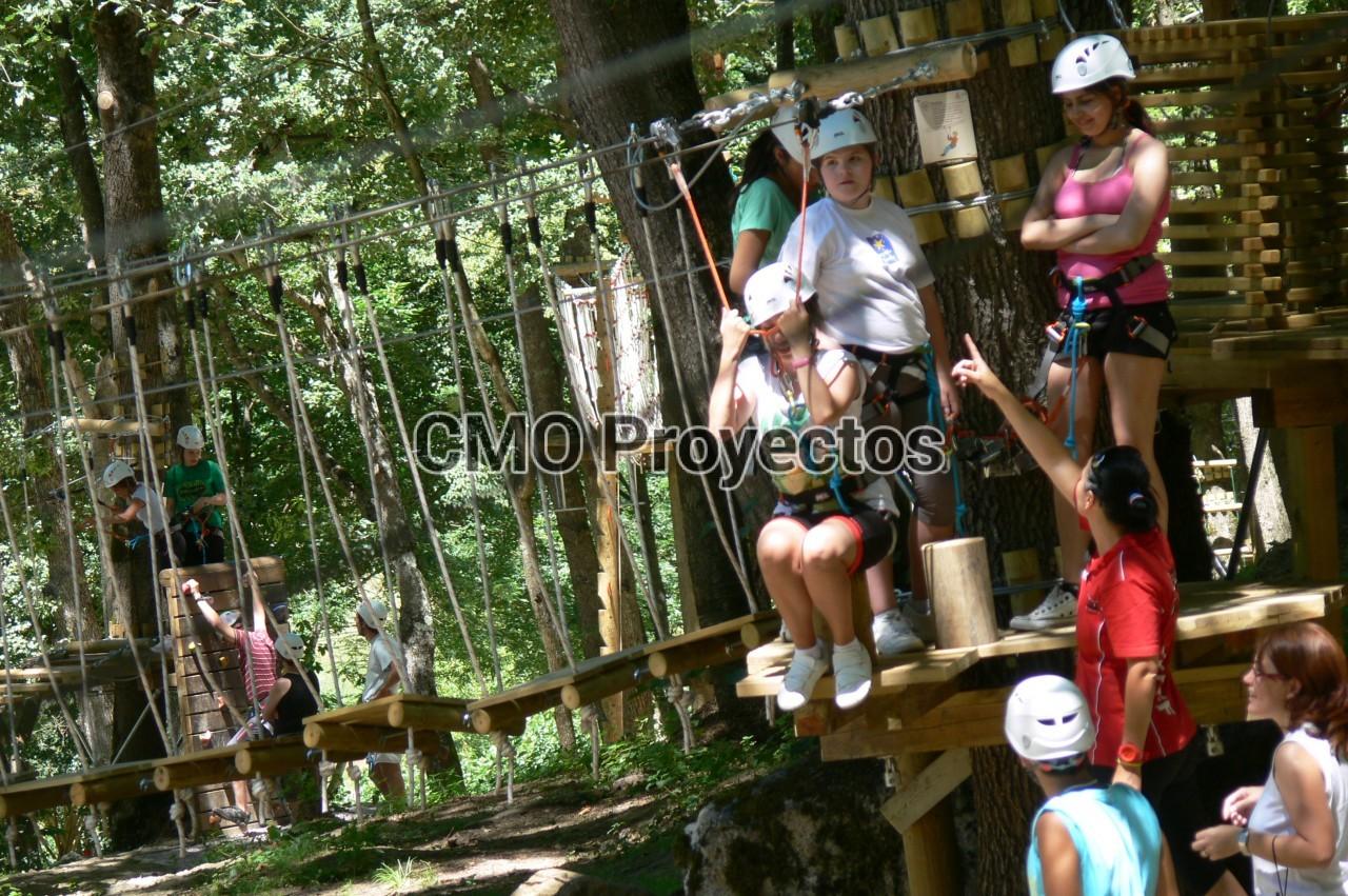Children courses on trees en Parque Multiaventura CMO Proyectos