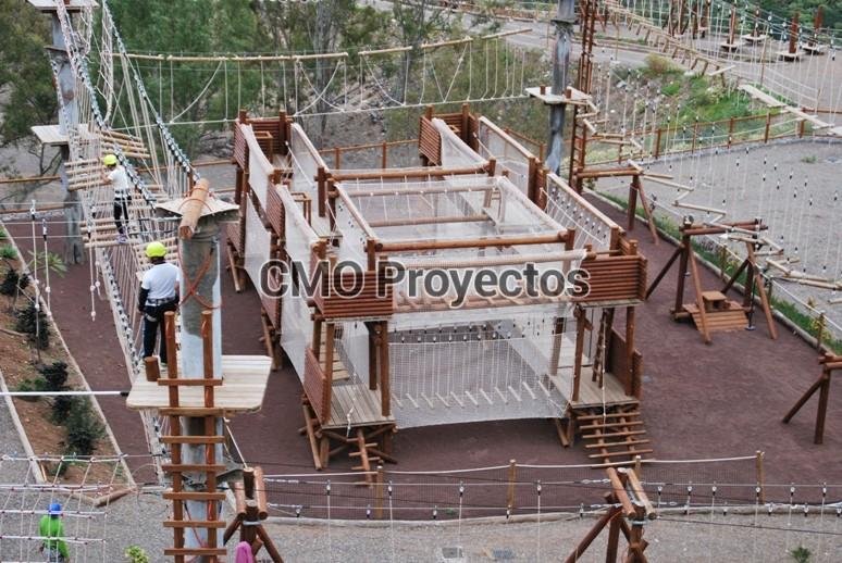 Circuito infantil, seguridad pasiva en Parque Multiaventura CMO Proyectos